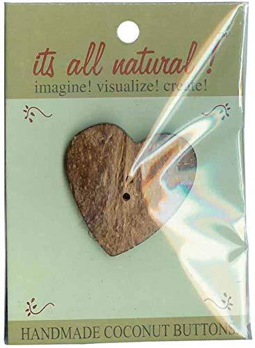 (Vision Trims Handmade Coconut Button-Heart)