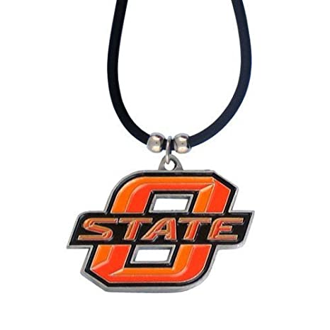 info for 03d48 cb200 Amazon.com : Oklahoma State Cowboys Rubber Cord Logo Pendant ...