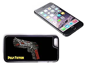iPhone 6 Black Plastic Hard Case with High Gloss Printed Insert Pulp Fiction