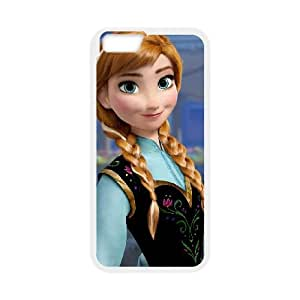 iPhone 6 4.7 Inch Cell Phone Case Covers White Frozen Character Anna kqml