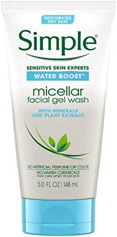 Facial Cleanser: Simple Water Boost Micellar Facial Gel Wash