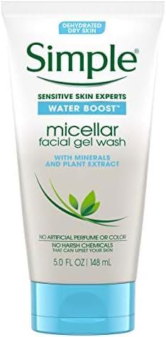 Simple Water Boost Micellar Facial Gel Wash, Sensitive Skin 5 oz
