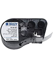 "Brady M-102-427 Vinyl B-427 Black on White/Clear Label Maker Cartridge, 1/2"" Width x 1-1/4"" Height, 0.375"" Printable Area, for BMP51/BMP53 Printers"