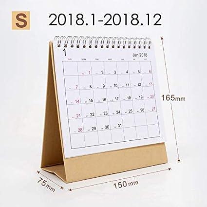 HOKUGA: 2019 Calendario de mesa 2018, planificador semanal, planificador mensual, planificador de escritorio, calendario diario Rainlendar, calendario de escritorio de estilo sencillo: Amazon.es: Oficina y papelería
