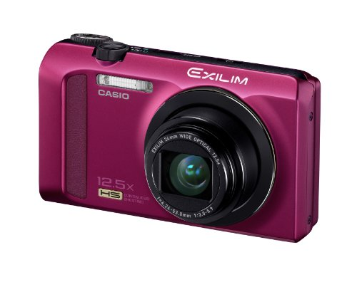 Casio Exilim EX-ZR200 High Speed 16 MP, 12x Optical Zoom Compact Digital Camera (Red)