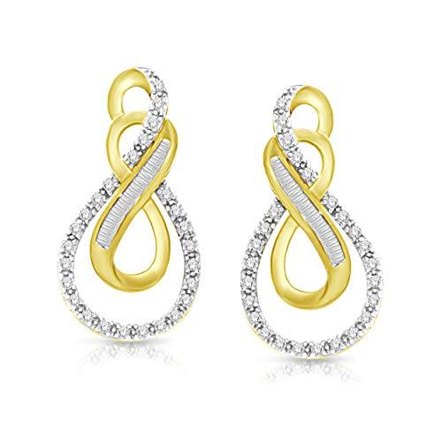 NATALIA DRAKE 0.07Cttw Diamond Accent Swirl Fashion Earrings ()