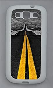 High-speed Highway TPU Silicone Rubber Case Cover for Samsung Galaxy S3 SIII I9300 White