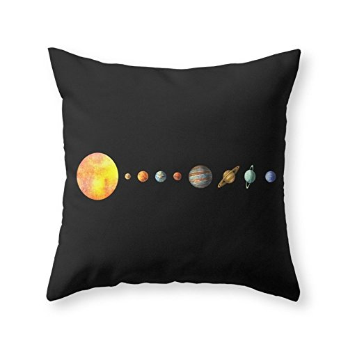 Society6 Solar System Throw Pillow Indoor Cover (18'' x 18'') with pillow insert by Society6