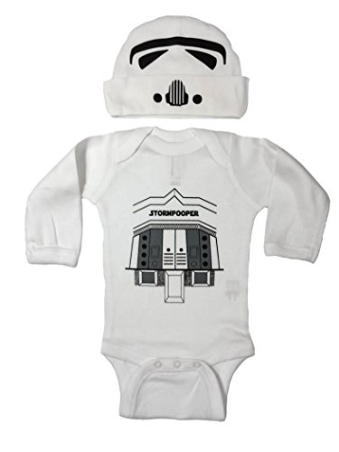 Baby Boy Star Wars Storm Trooper Pooper Bodysuit and Hat (18M)