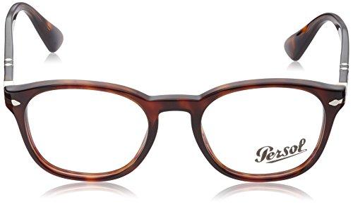 Persol Montures de lunettes 3122 Dark Grey Gradient Green-Brown, 48mm 24: Tortoise
