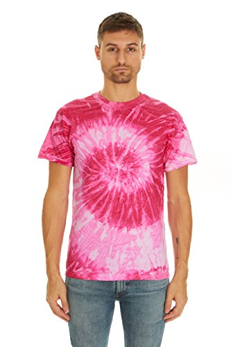 - Krazy Tees Tie Dye T-Shirt, Spiral Pink, M