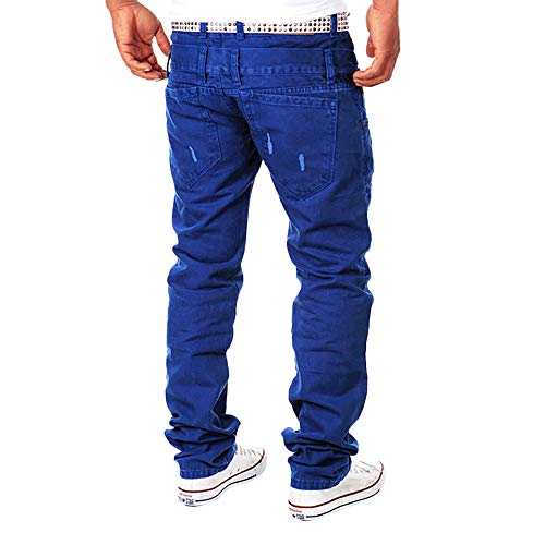 Inverlee-Mens Casual Solid Loose Patchwork Ripped Hole Trousers Cargo Pants by Inverlee-Mens (Image #2)