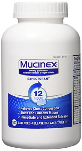 Mucinex SE 12 Hr Chest Congestion Expectorant, Tablets, 500ct by Mucinex