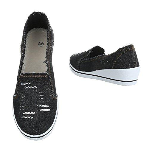casa A01 1 de Schwarz Ital Mujer Design Zapatillas tnFqYw87