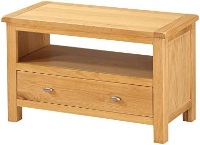 Finish Oak Everest Solid Oak Coffee Table with Shelf Living Room Furniture