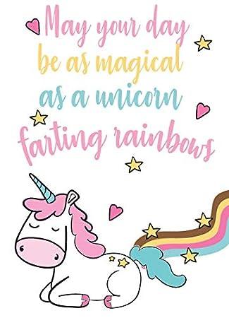 Tarjeta de cumpleaños con diseño de unicornio para amigo ...