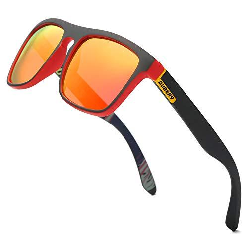DUBERY Classic Polarized Sunglasses for Men Women Retro 100% UV Protection Driving Sun Glasses ()