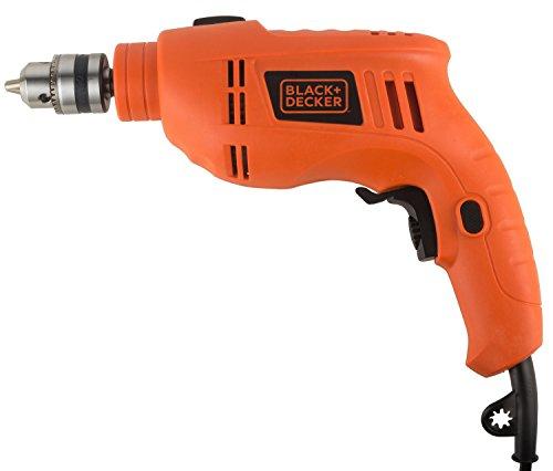 Black + Decker TB555 10mm 550-Watts Reversible Hammer Drill (Orange, 1-Piece)
