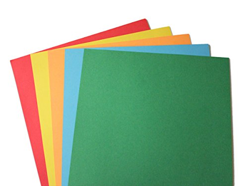 "24lb Bond Assorted Rainbow Brights Colored Paper - Letter Size 8 1/2"" x 11"" (100 Sheets)"