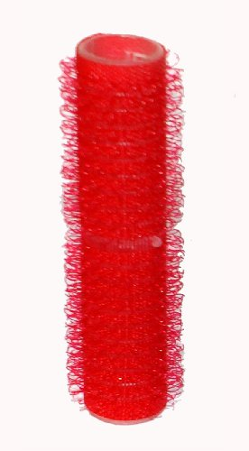 Hair Tools Velcro Cling Hair Rollers - Small Red 13 mm x 12 - Hair Tools Velcro