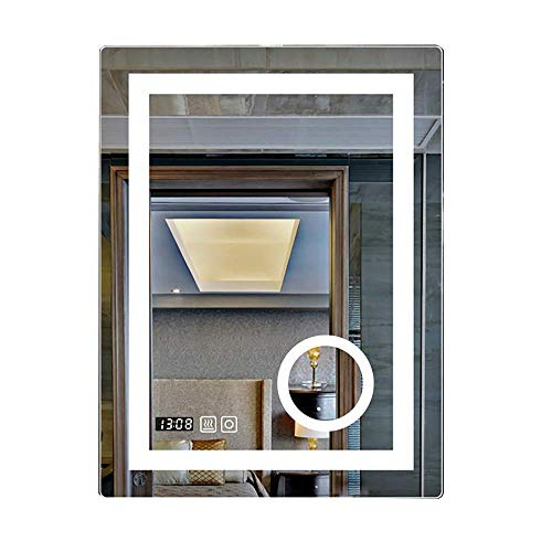 HDGZ Rectangle Illuminated LED Backlit Bathroom Mirror Light with Touch Control Frameless -