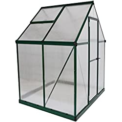 Palram HG5005GPH Mythos Greenhouse, 6x4, Green, Plant Hangers included