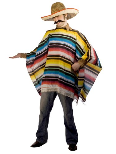 Mexican Theatre Costumes Serape Poncho Sombrero Latin America
