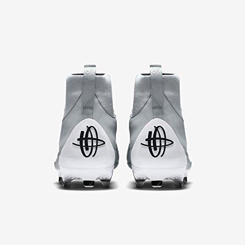 Nike Heren Lucht Huarache 2kfilth Elite Mid Honkbal Klamp Grijs / Wit