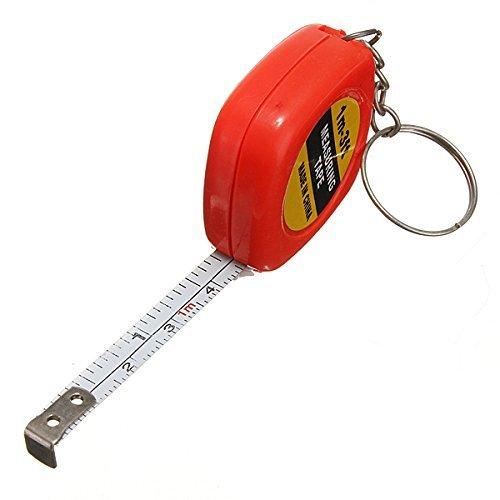 Llavero de cinta métrica de 1 m con cadena retráctil