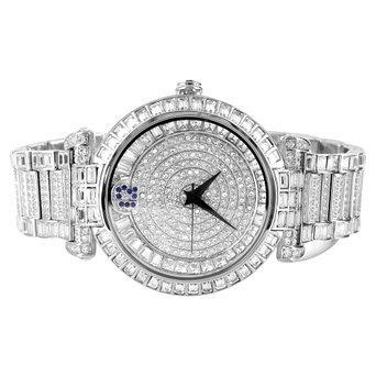 Se vende Master de Bling de acero inoxidable para hombre blanco acabado nuevo 49 mm Reloj: Amazon.es: Relojes