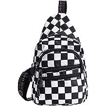 Van Caro Canvas Crossbody,Chest Pack Sport/Travel/Shopping Shoulder Backpacks for Women