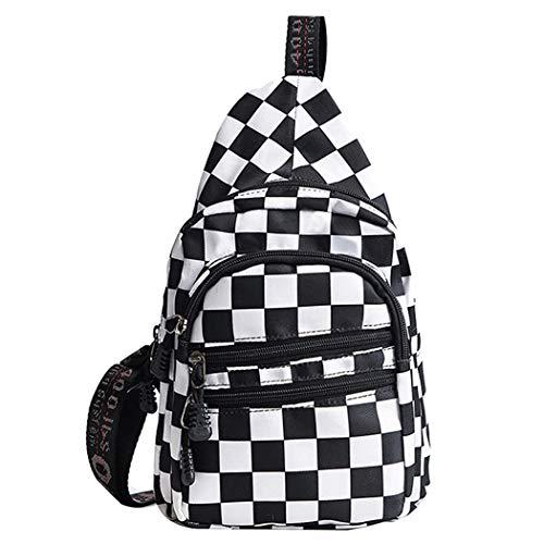 Van Caro Van Caro Canvas Crossbody,Chest Pack Sport/Travel/Shopping Shoulder Backpacks for Women Girl