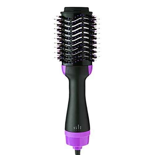 Hot Air Hair Dryer Brush - 3 in 1 Hot Air Brushes Negative Ions Styler Hair Straightener and Curling Iron Comb for all Hair Types -  Bronkey, EHBS5660UKPE=LM