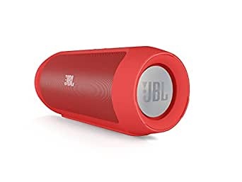JBL Charge 2 Red Portable Speaker with Bluetooth and microphone