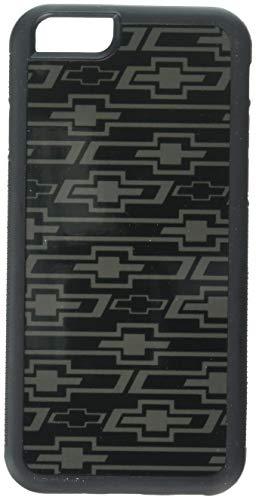 (Buckle-Down Cell Phone Case - Retro Chevy Bowtie Diagonal Monogram Black/Gray - iPhone6 )