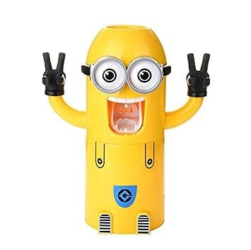 Baby de soporte para cepillo de dientes, niño erhand Máquina de Pasta de dientes, Cochecito, dibujos animados de pasta de dientes de Squeezer a: Amazon.es: ...