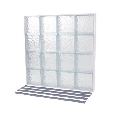 NailUp2 Wave Pattern Solid Glass Block Window by TAFCO WINDOWS