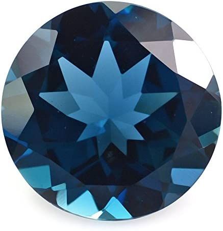 Ratnagarbha London Blue Topaz Brilliant Cut Round Shape Faceted Loose gem Stone, London Blue Color Topaz, Wholesale Price, Jewelry Making.