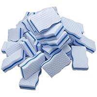 LTWHOME Magique Nettoyant Double Côté Type de Vague Mélamine Haute Température Compression Mousse De Haute Qualité Bleu