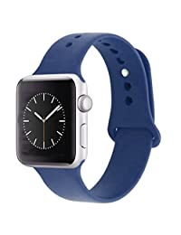 iDon Smart Watch Sport Band, Soft Silicone Replacement Sports Band for iWatch Apple Watch Band Series 1 Series 2, 42mm Apple Watch 2015 & 2016 All Models (M/L, Sea Blue)