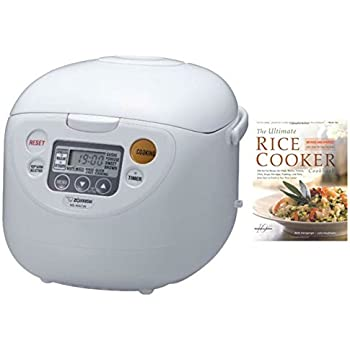 Zojirushi NS-WAC18-WD 10-Cup (Uncooked) Micom Rice Cooker and Warmer + Cookbook