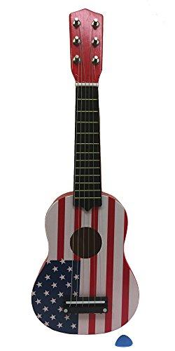 Toy Mini Guitar Ukulele with USA flag design for Kids, Fa...