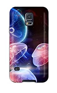 Galaxy S5 Case Cover Underwater Jellyfishes Case - Eco-friendly Packaging