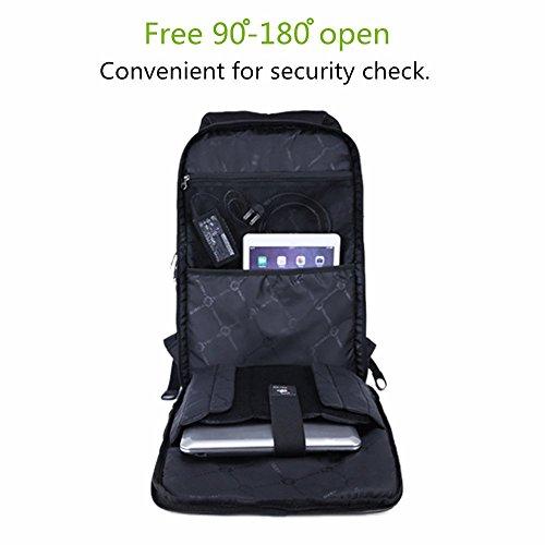 Tigernu Laptop Rucksack 15.6 Zoll wasserdicht Schule Wander schwarz