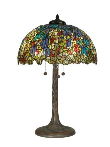 Dale Tiffany TT90430 Tiffany Table Lamp, Antique Verde an...