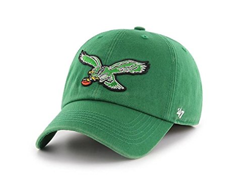 '47 Philadelphia Eagles Brand Clean Up Throwback Logo Adjustable Hat - Green