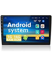 Double Din Android 9.1 Car Stereo 10.1 Inch Touch Screen GPS Navigation Car Radio Feature FM Radio WiFi Hands-Free Bluetooth Support mp3/mp4/mp5 2 Rear USB Mirror Link SWC+12 LEDs Backup Camera Input