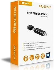 MyGica Hybrid USB TV Tuner, ATSC, Clear QAM HDTV & Digital Radio,for PC Laptop Windows & Android TV with Mini TV Antenna