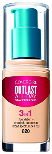 COVERGIRL Outlast All-Day Stay Fabulous 3-in-1 Foundation Creamy Natural, 1 Ounce (packaging may vary)