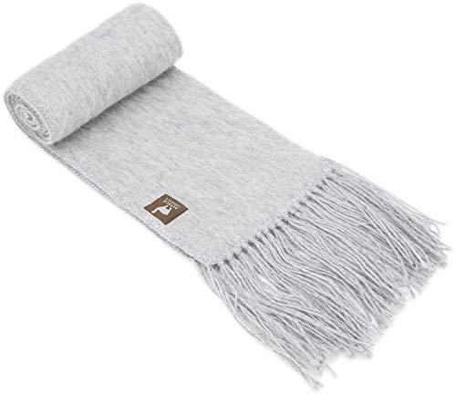 (Alpaca Narrow Scarf – Vibrant, Natural Colors, lightweight,)